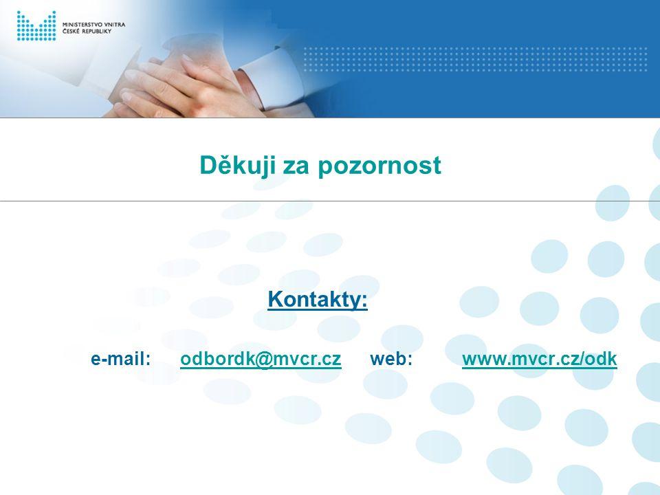 Děkuji za pozornost Kontakty: e-mail: odbordk@mvcr.cz web: www.mvcr.cz/odkodbordk@mvcr.czwww.mvcr.cz/odk