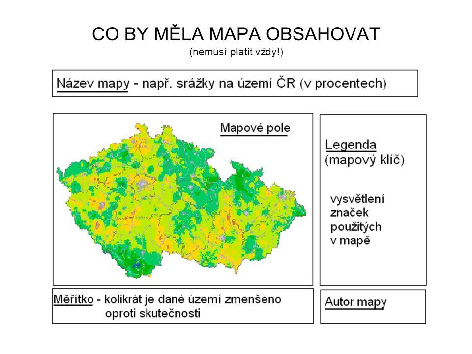 Vznik map při vzniku dnešních map potřebujeme: počítač letecké snímkování snímky z družic kroky při tvorbě mapy: 1.nasnímkování území 2.překreslení objektů ze snímku do mapy 3.tvorba polohopisu, výškopisu 4.popis mapy