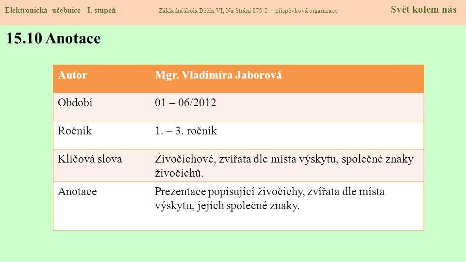 15.9 Použité zdroje, citace Elektronická učebnice - I.