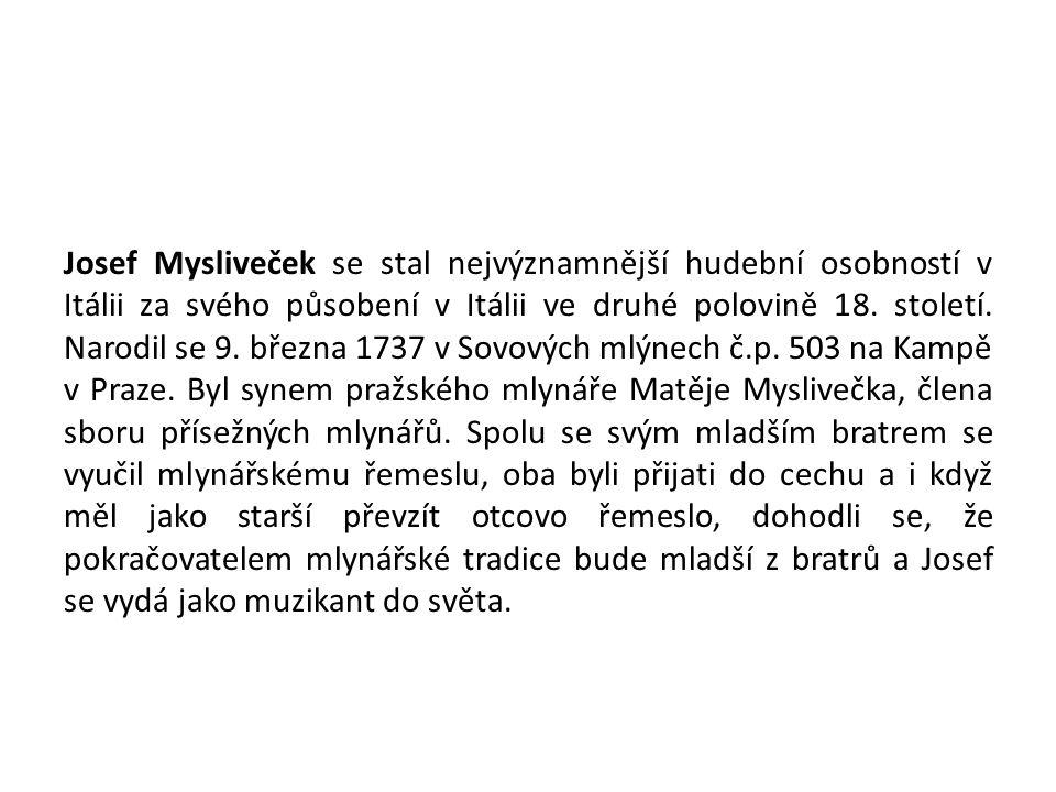 1. Josef Mysliveček