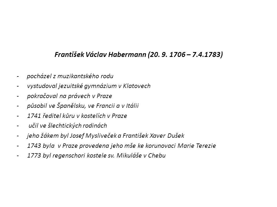 Josef Ferdinand Norbert Seger (21.3. 1716 – 22. 4.