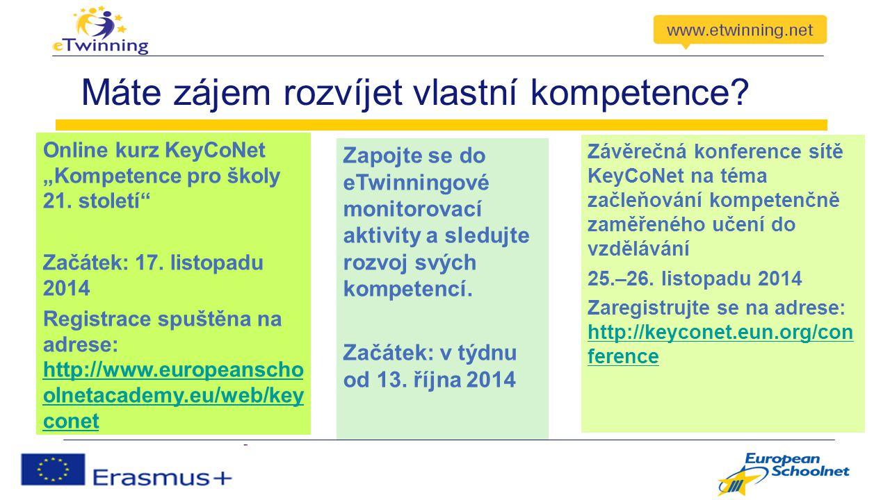 """Máte zájem rozvíjet vlastní kompetence. Online kurz KeyCoNet """"Kompetence pro školy 21."""