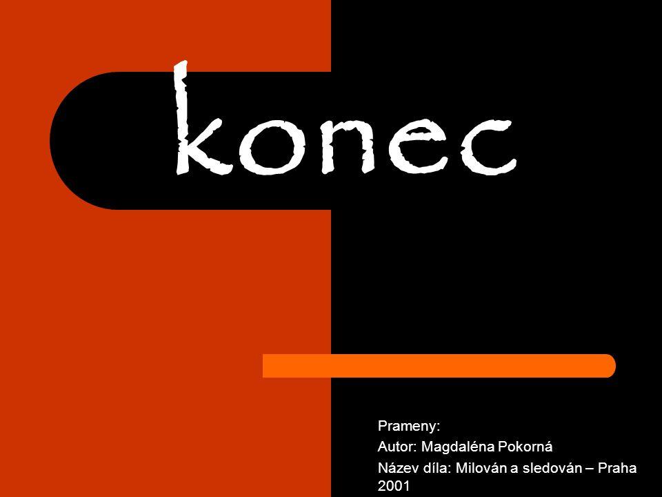 konec Prameny: Autor: Magdaléna Pokorná Název díla: Milován a sledován – Praha 2001
