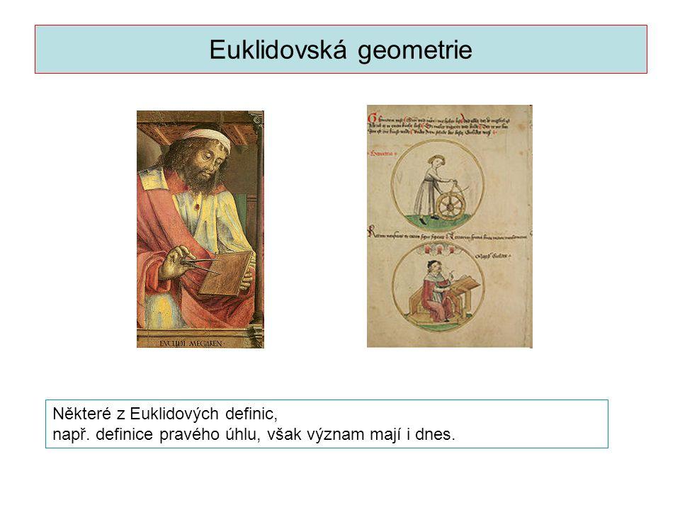 Euklidovská geometrie je nejstarší část geometrie .