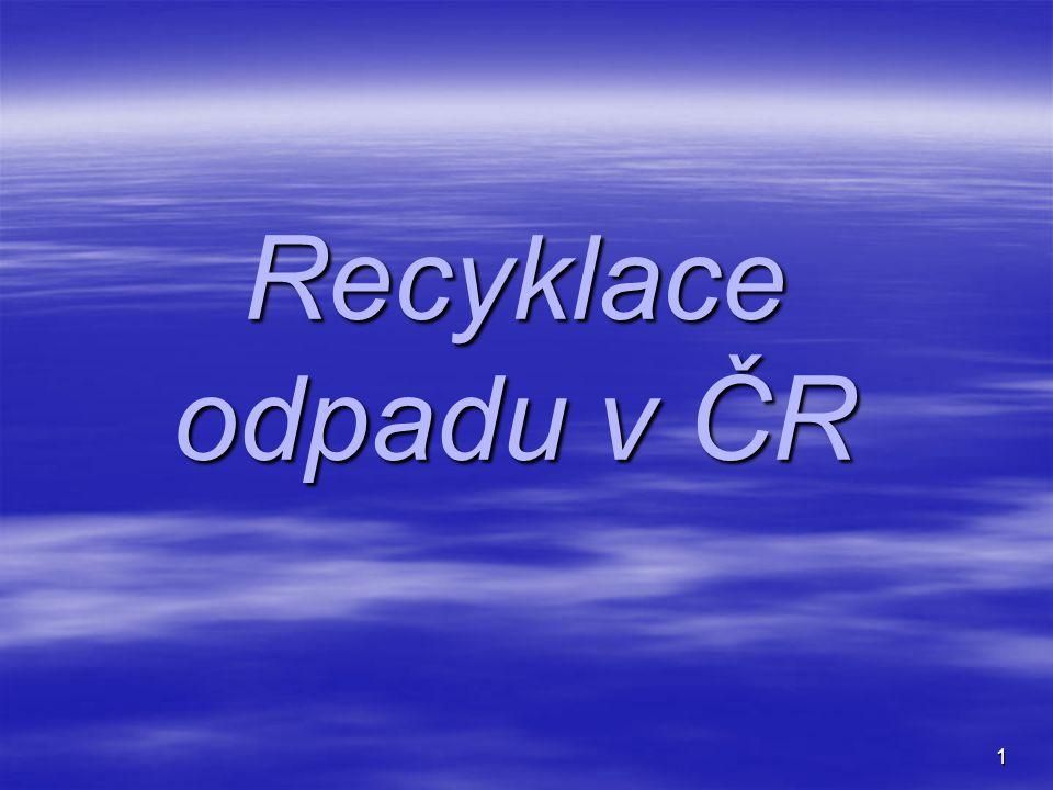 1 Recyklace odpadu v ČR