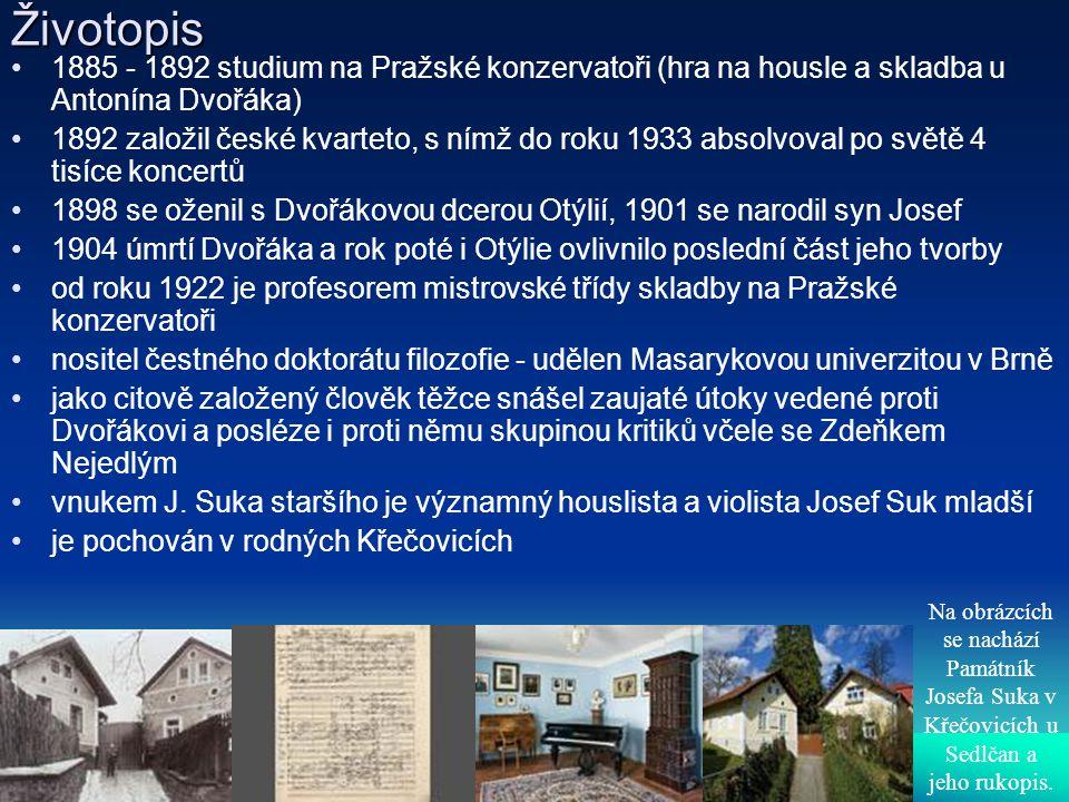 Životopis 1885 - 1892 studium na Pražské konzervatoři (hra na housle a skladba u Antonína Dvořáka) 1892 založil české kvarteto, s nímž do roku 1933 ab
