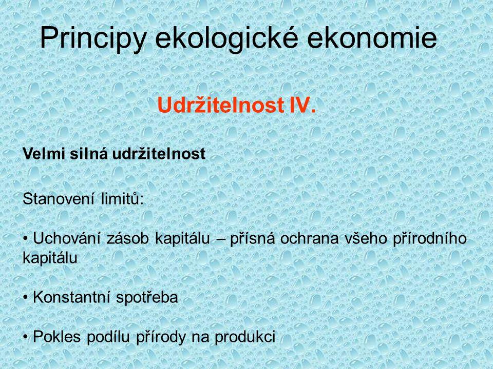 Principy ekologické ekonomie Entropie a termodynamické zákony I.