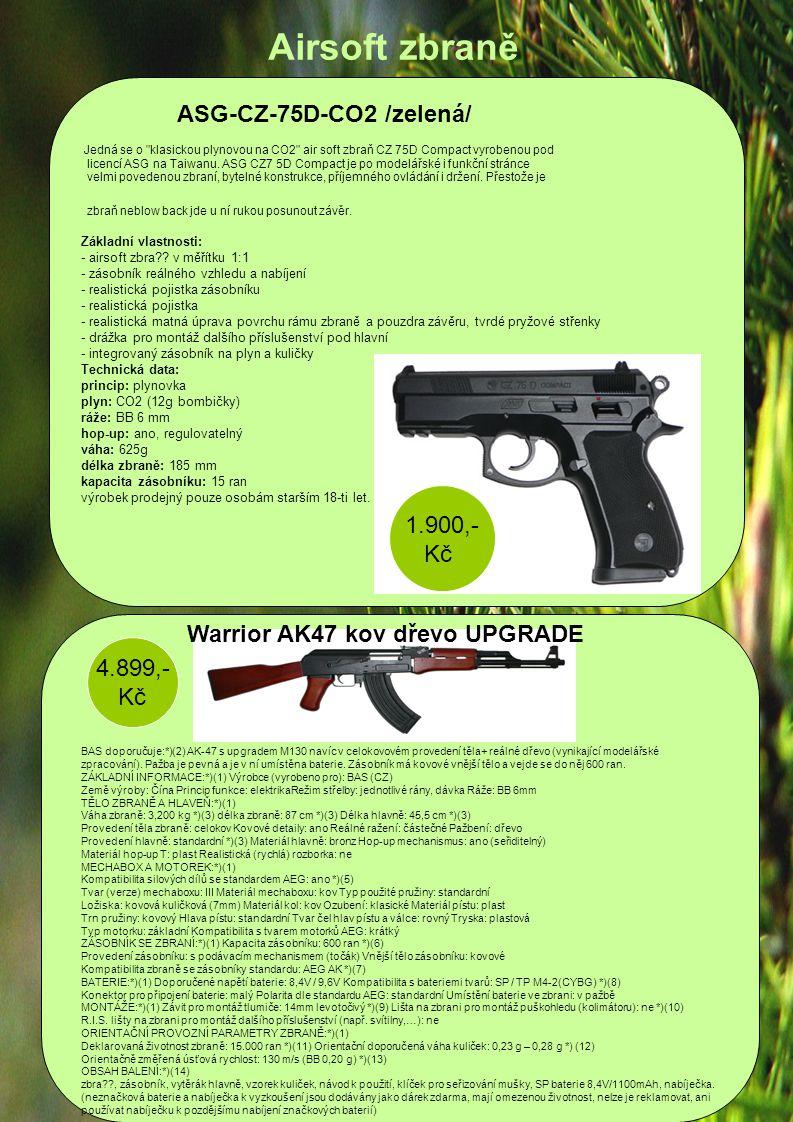 Jedná se o klasickou plynovou na CO2 air soft zbraň CZ 75D Compact vyrobenou pod licencí ASG na Taiwanu.