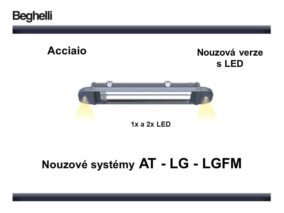 Nouzové systémy AT - LG - LGFM 1x a 2x LED Nouzová verze s LED Acciaio