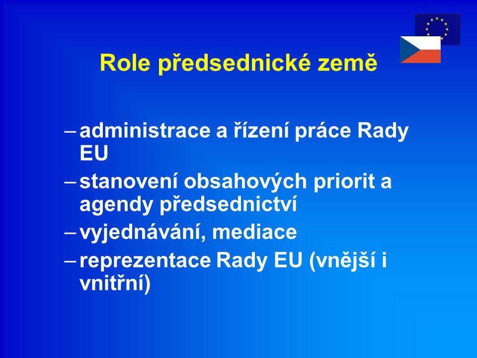 Obsahová stránka předsednictví ČR v Radě EU I.Prioritní oblasti předsednictví ČR v Radě EU II.
