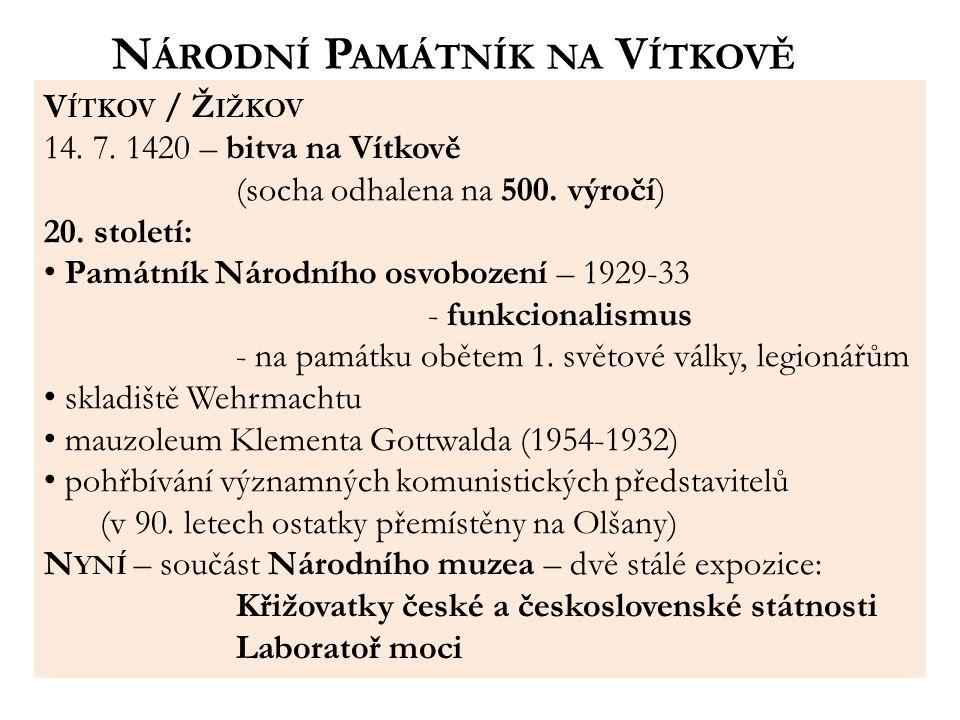 V ÍTKOV / Ž IŽKOV 14.7. 1420 – bitva na Vítkově (socha odhalena na 500.