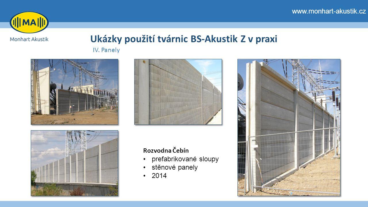 Ukázky použití tvárnic BS-Akustik Z v praxi IV.