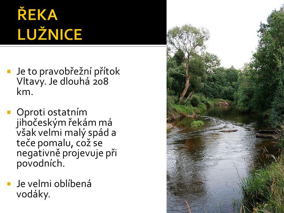  Je to pravobřežní přítok Vltavy. Je dlouhá 208 km.