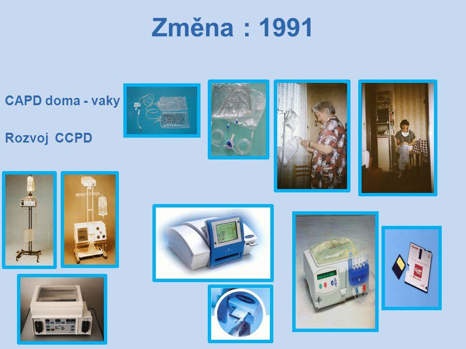 Změna : 1991 CAPD doma - vaky Rozvoj CCPD