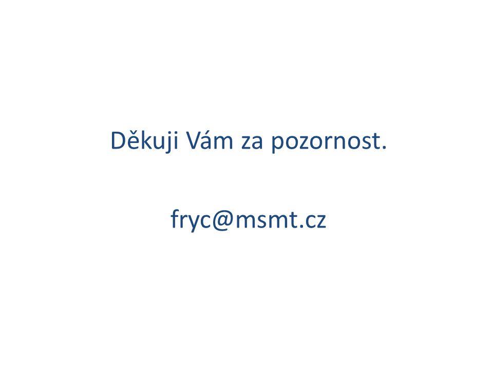 Děkuji Vám za pozornost. fryc@msmt.cz