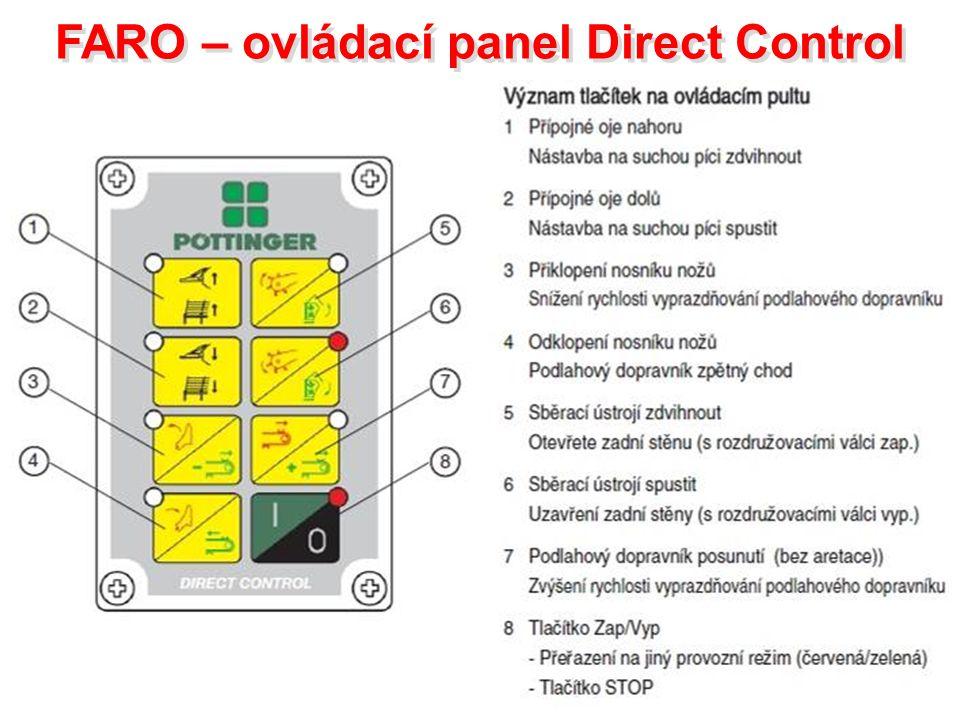 FARO – ovládací panel Direct Control FARO – ovládací panel Direct Control