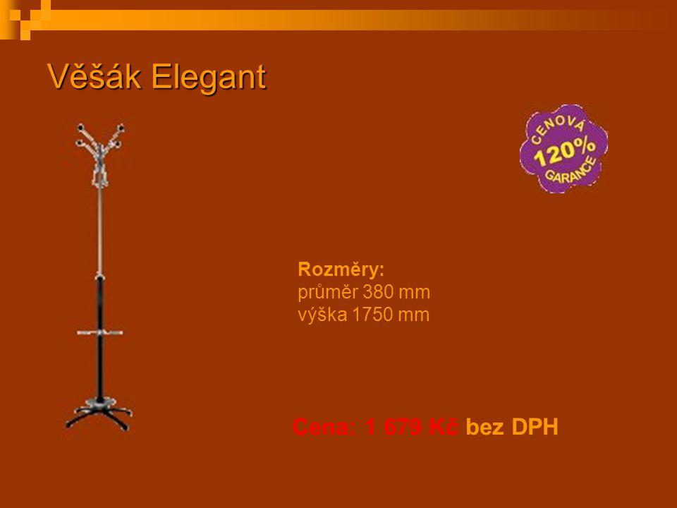 Cena: 1 679 Kč bez DPH Věšák Elegant Rozměry: průměr 380 mm výška 1750 mm