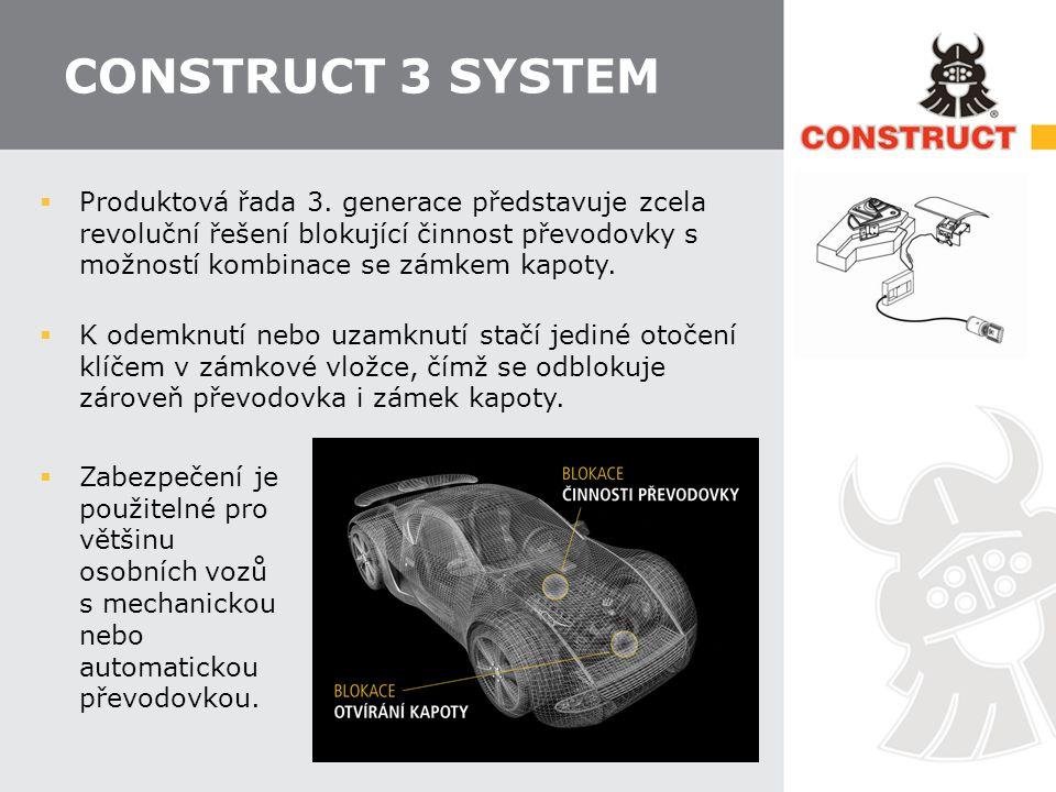 CONSTRUCT 3 SYSTEM  Produktová řada 3.
