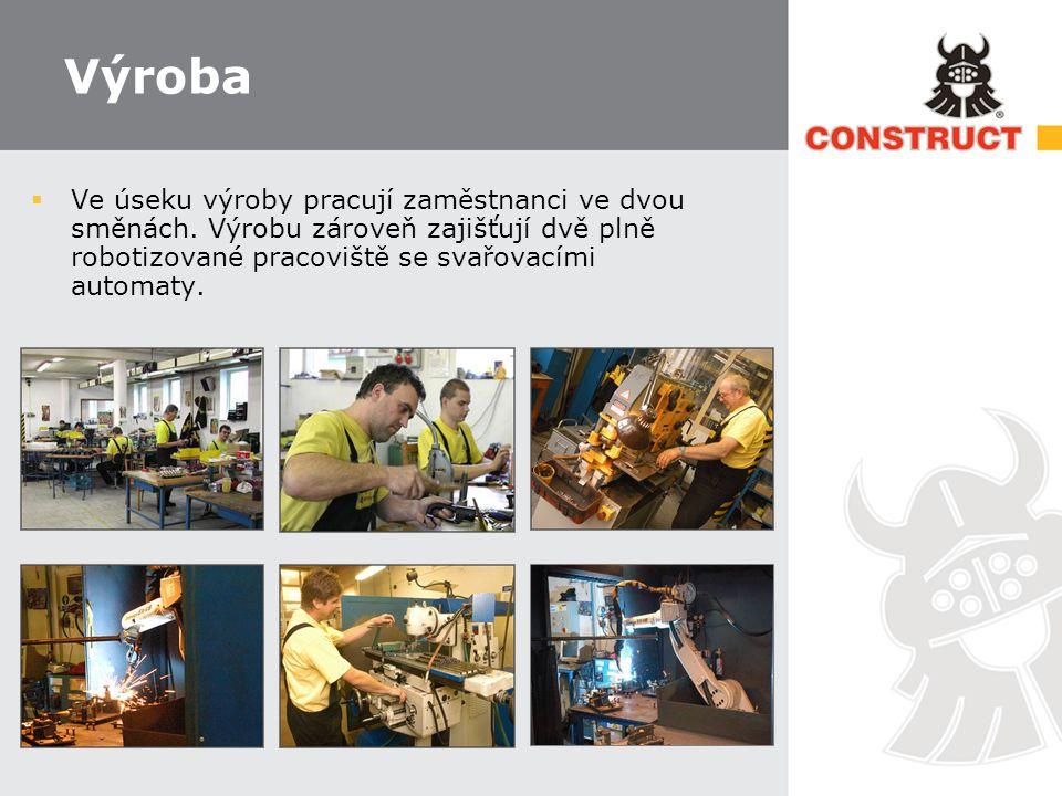Výroba  Ve úseku výroby pracují zaměstnanci ve dvou směnách.