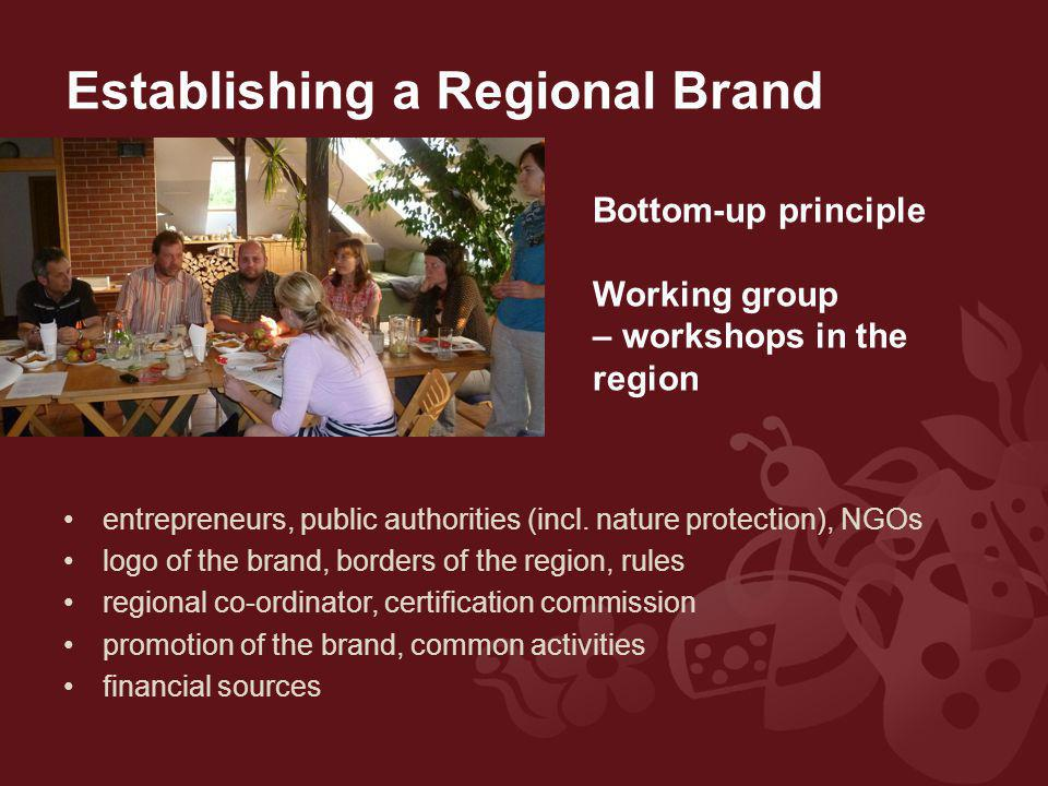Establishing a Regional Brand entrepreneurs, public authorities (incl.