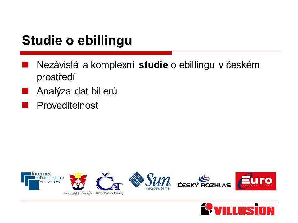 Studie o ebillingu Nezávislá a komplexní studie o ebillingu v českém prostředí Analýza dat billerů Proveditelnost