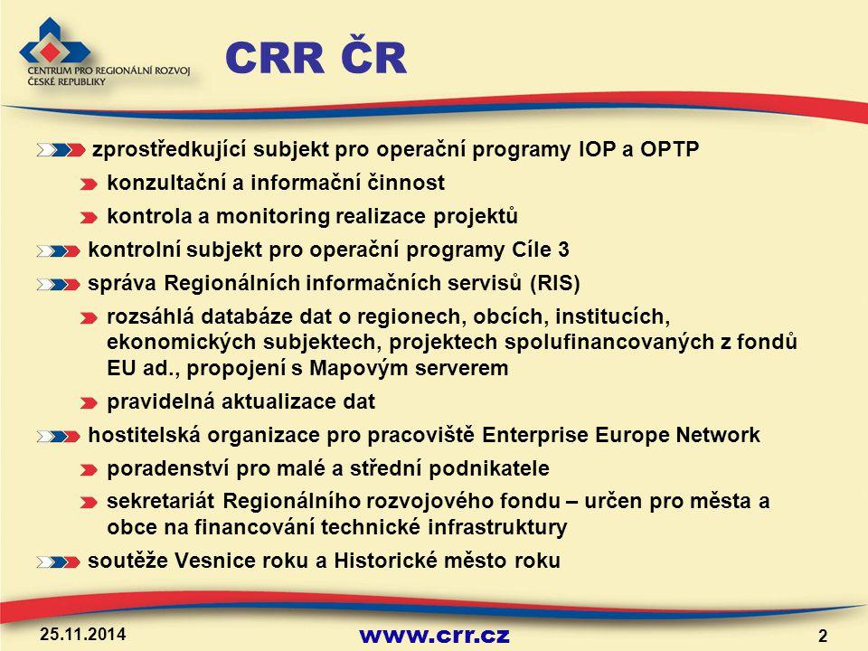 www.crr.cz Příprava projektové žádosti Inventarizace potřeb – potřebuji projekt.