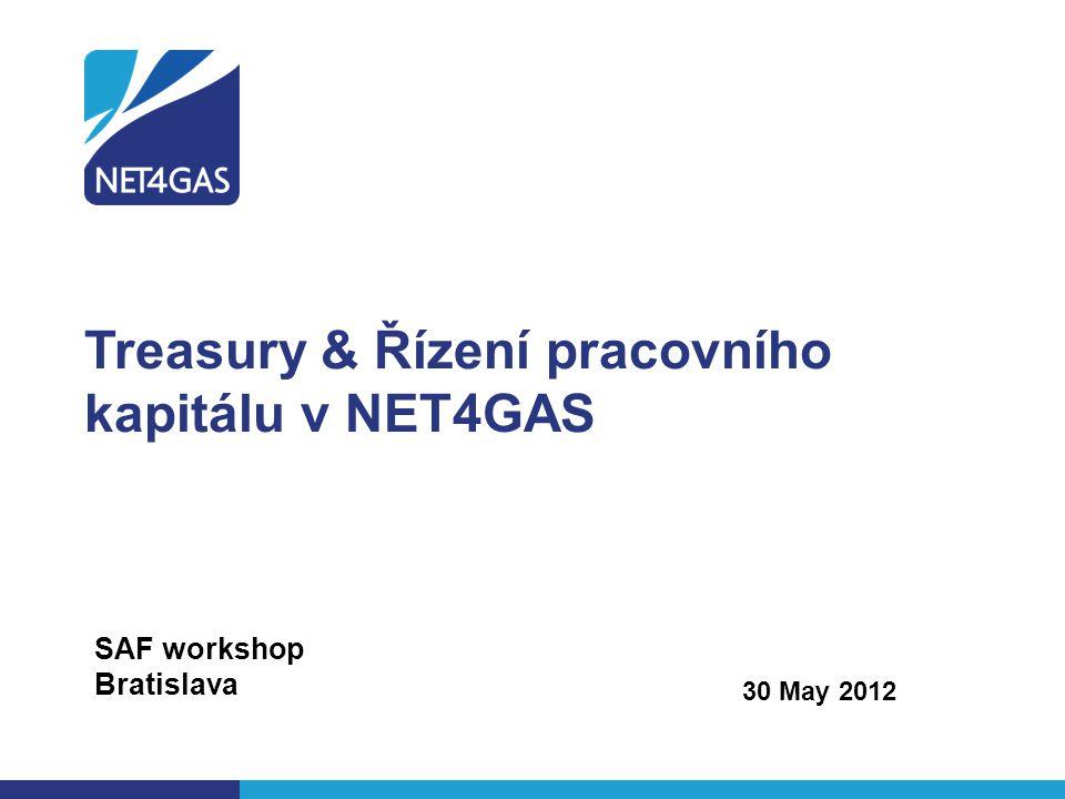 Treasury & Řízení pracovního kapitálu v NET4GAS 30 May 2012 SAF workshop Bratislava