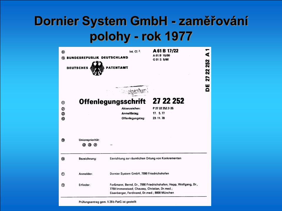 Dornier System GmbH - zaměřování polohy - rok 1977
