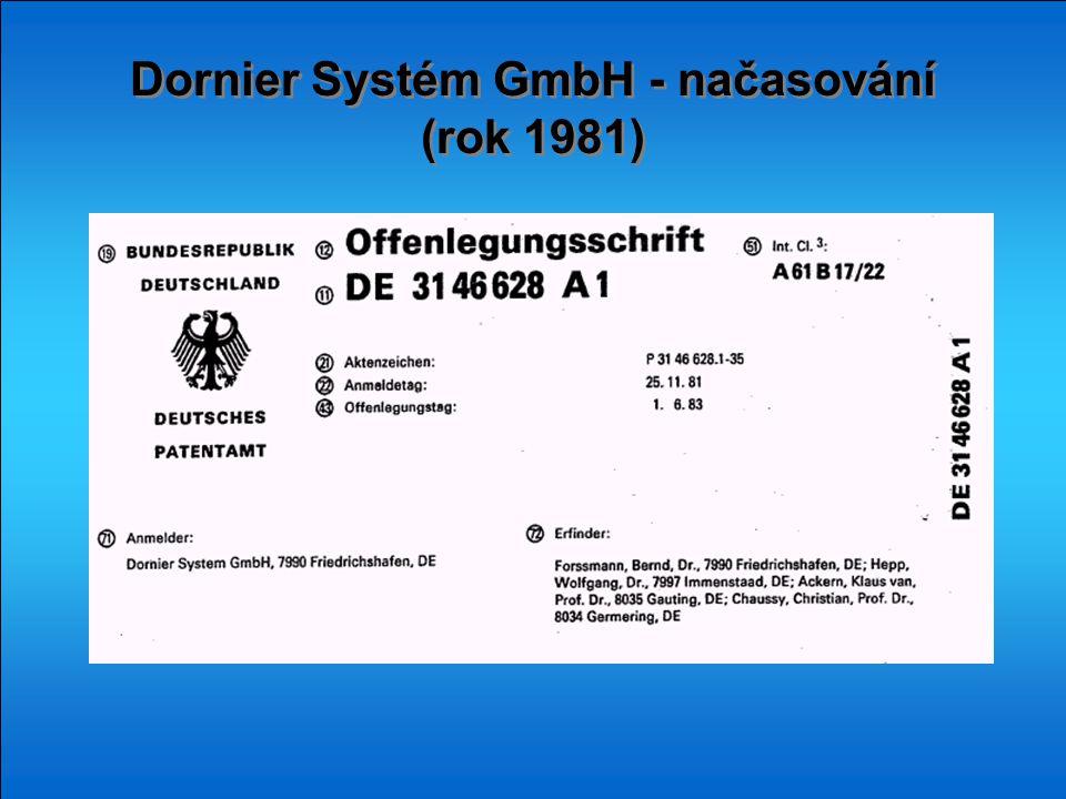 Dornier Systém GmbH - načasování (rok 1981) Dornier Systém GmbH - načasování (rok 1981)