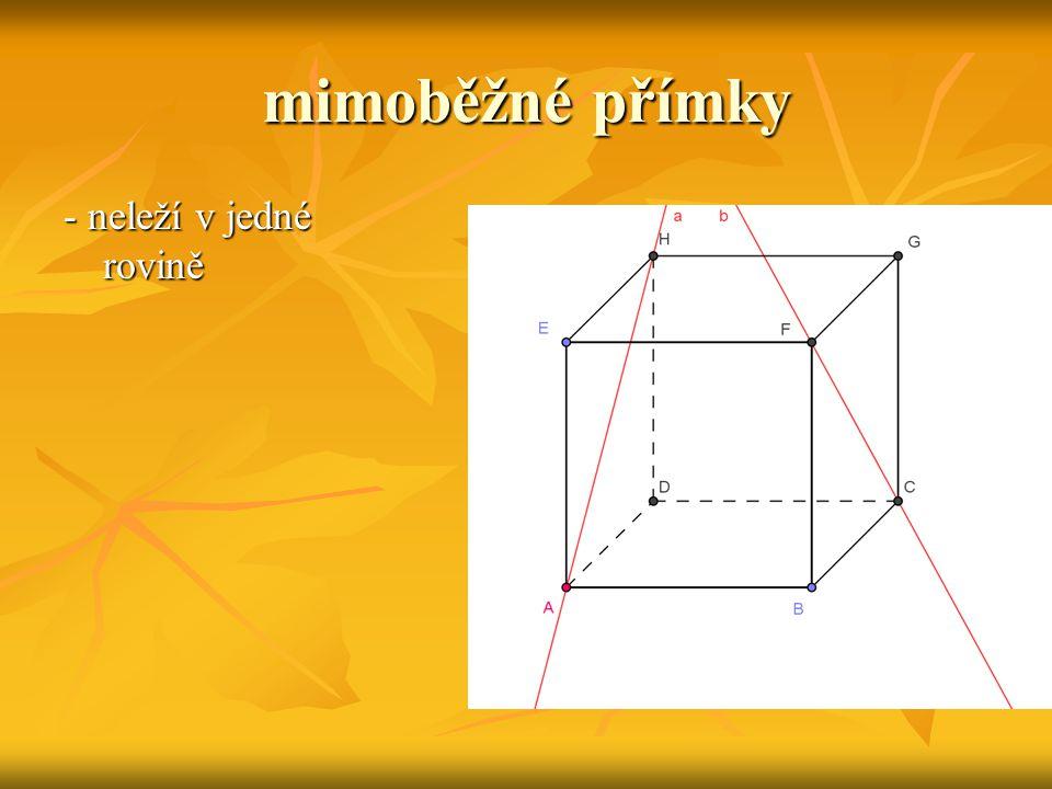 Vzájemná poloha dvou rovin rovnoběžné rovnoběžné - různé - různé - totožné - totožné různoběžné různoběžné
