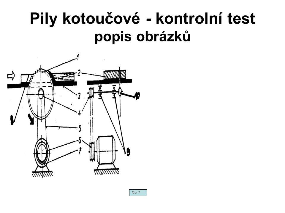 Pily kotoučové - kontrolní test popis obrázků Obr.7