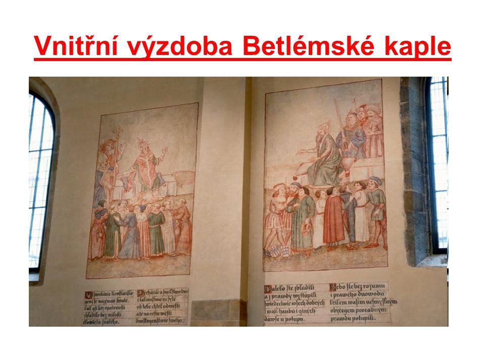Vnitřní výzdoba Betlémské kaple