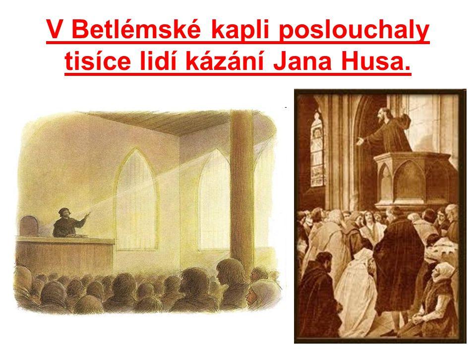 Betlémská kaple v současné době