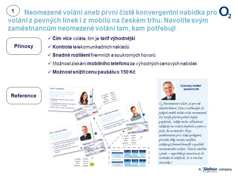 Neomezené volání aneb první čistě konvergentní nabídka pro volání z pevných linek i z mobilů na českém trhu. Navolíte svým zaměstnancům neomezené volá
