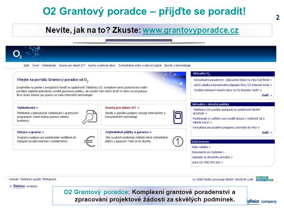 12/10/2006Confidential Slide7 O2 Grantový poradce – přijďte se poradit! Nevíte, jak na to? Zkuste: www.grantovyporadce.czwww.grantovyporadce.cz O2 Gra