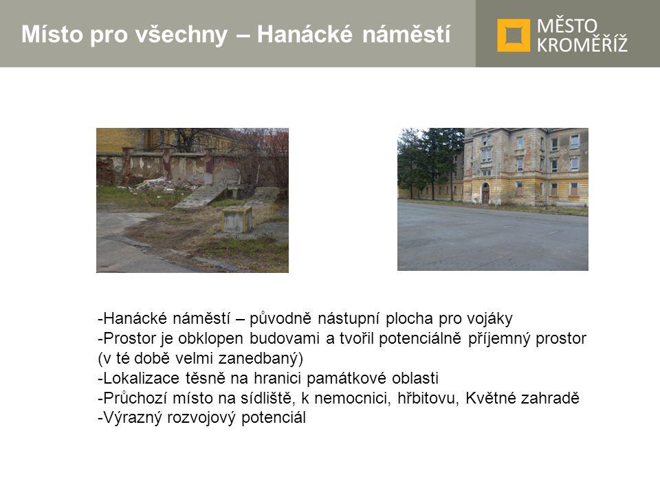 Místo pro všechny – Hanácké náměstí II -Projekt byl předložen ve 2.