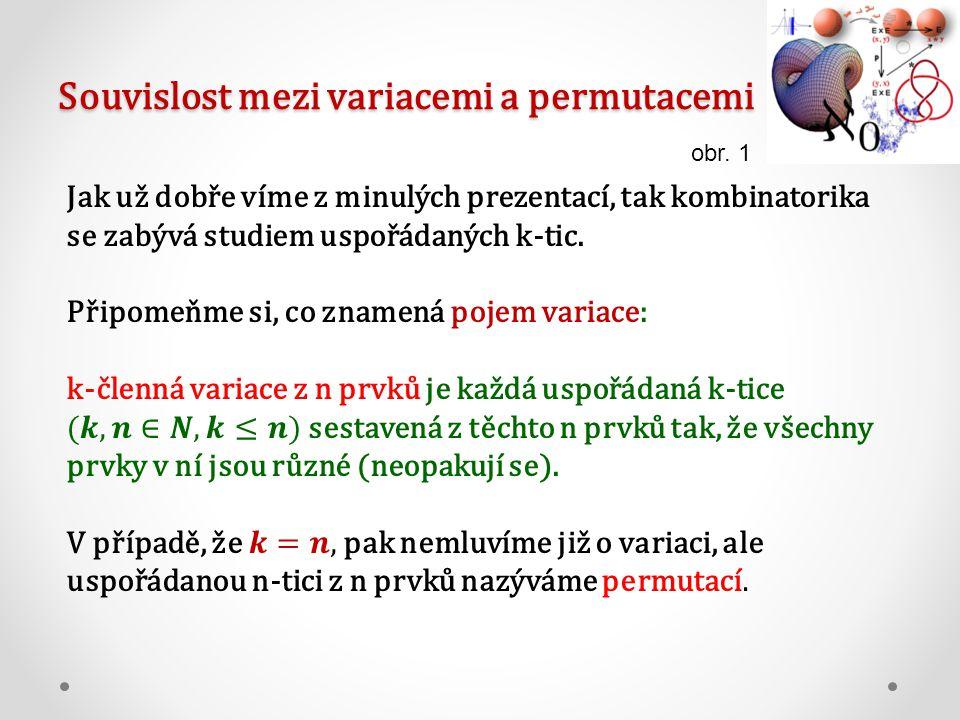 Souvislost mezi variacemi a permutacemi obr. 1