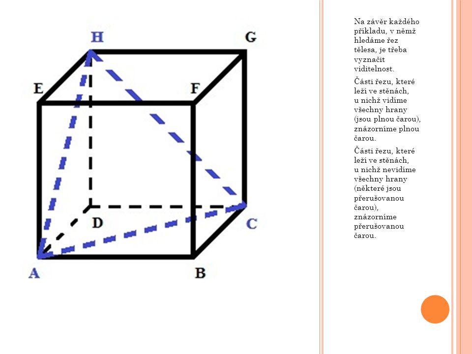Na základě prvního pravidla můžu spojit bod G a průsečík L. Získali jsme tak celý řez.