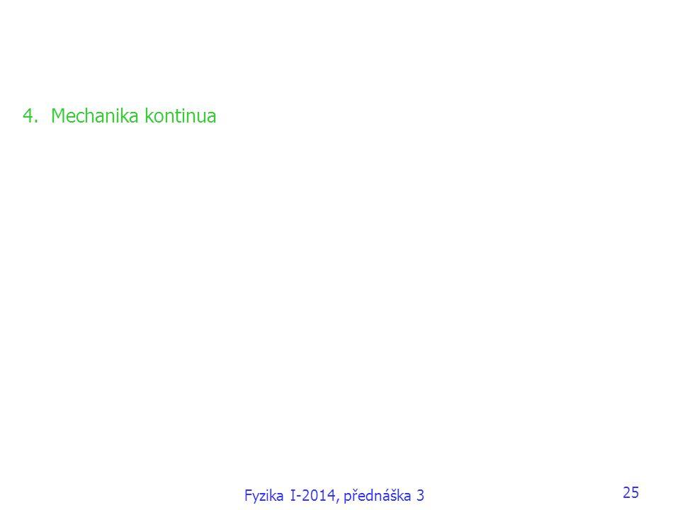 Fyzika I-2014, přednáška 3 25 4.Mechanika kontinua