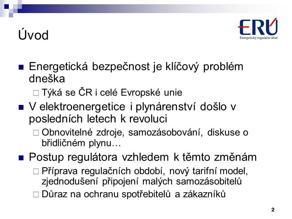 2 Úvod Energetická bezpečnost je klíčový problém dneška  Týká se ČR i celé Evropské unie V elektroenergetice i plynárenství došlo v posledních letech