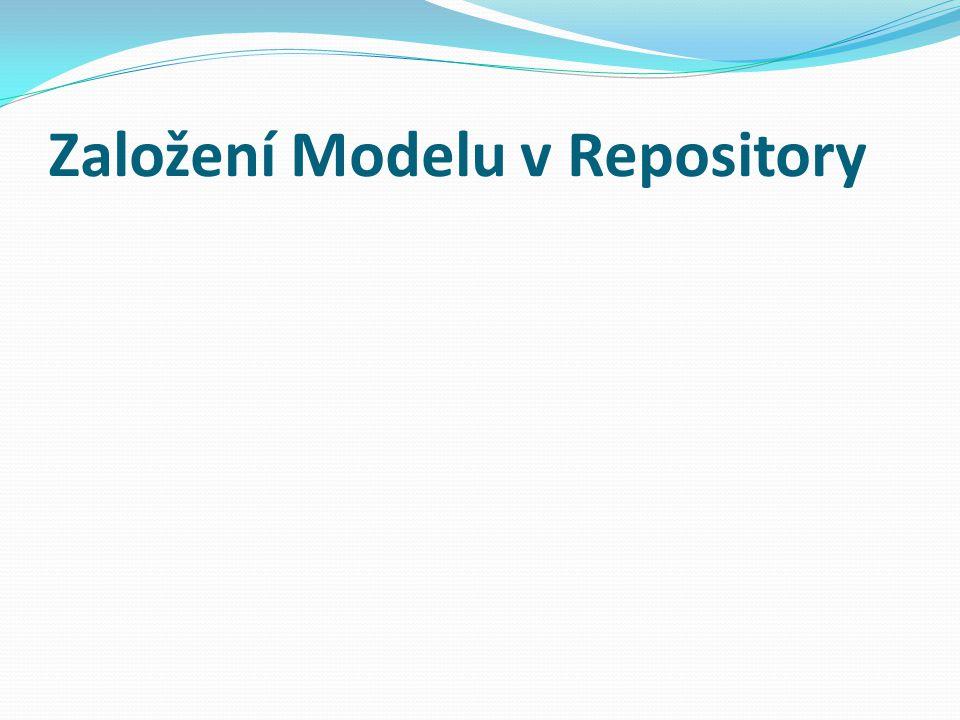 Založení Modelu v Repository