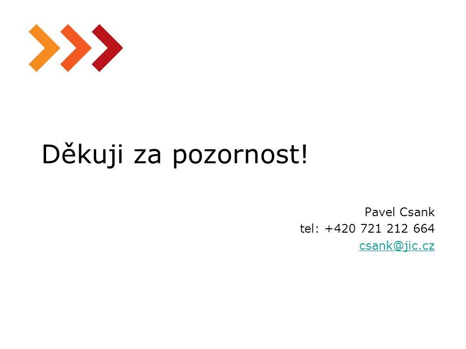 13 Děkuji za pozornost! Pavel Csank tel: +420 721 212 664 csank@jic.cz