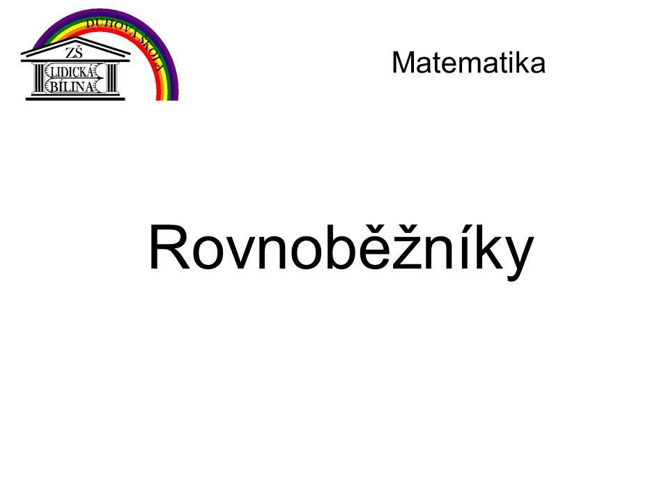 Rovnoběžníky Matematika