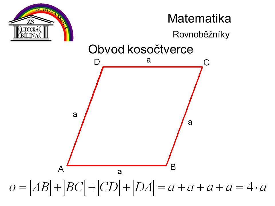 Matematika Rovnoběžníky Obvod kosočtverce
