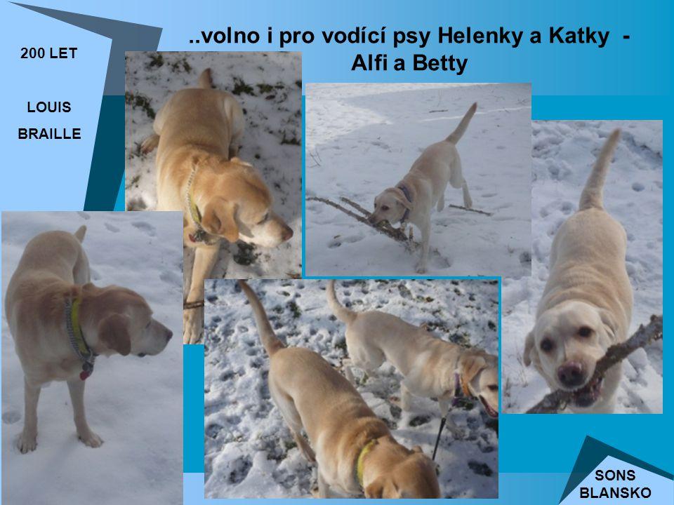 ..volno i pro vodící psy Helenky a Katky - Alfi a Betty 200 LET LOUIS BRAILLE SONS BLANSKO