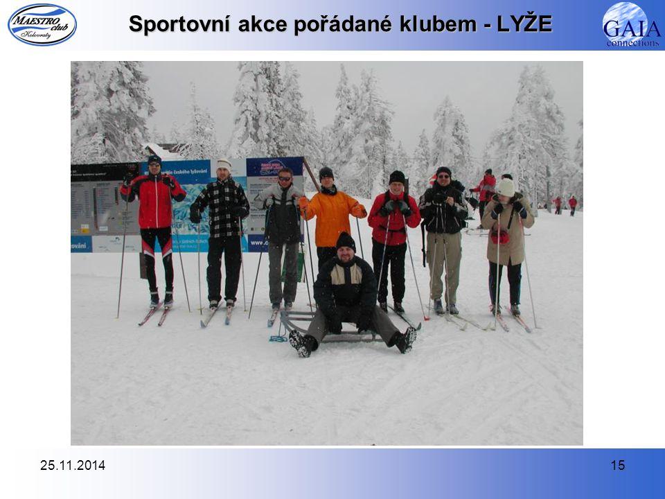 25.11.201415 Sportovní akce pořádané klubem - LYŽE