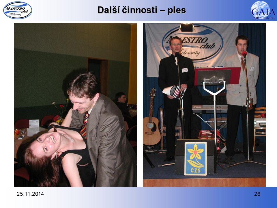 25.11.201426 Další činnosti – ples