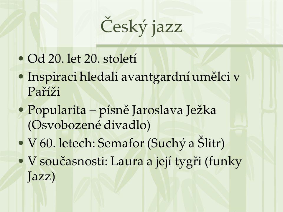Český jazz Od 20.let 20.