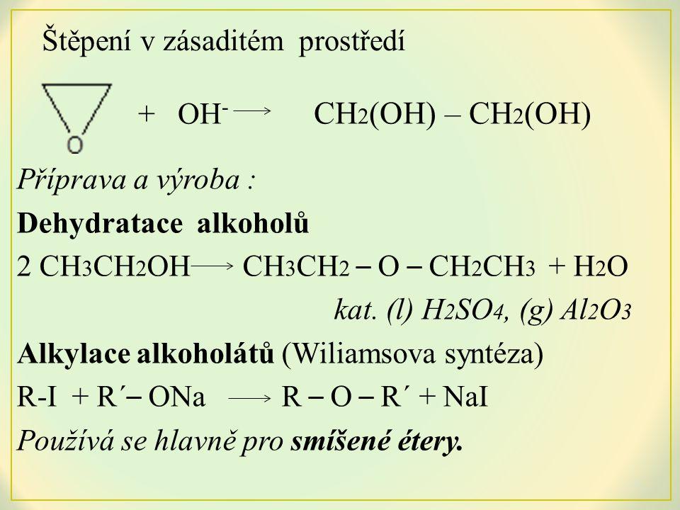 Oxidace alkenů CH 2 = CH 2 + O 2 kat.