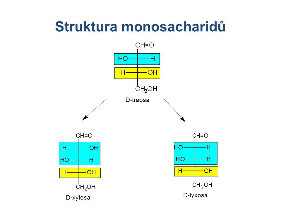Struktura monosacharidů D-treosa D-xylosa D-lyxosa